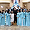 Fr. Joseph Quang with members of the choir