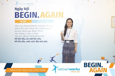 Vietnamworks Begin.Again Workshop instant print photobooth @ Pan Pacific Hanoi | Chụp ảnh lấy ngay Sự kiện Vietnamworks tại Hà Nội | Photobooth Hanoi