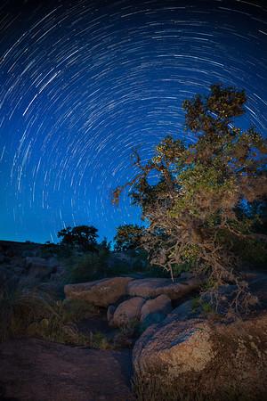 Enchanted Rock Star Trails