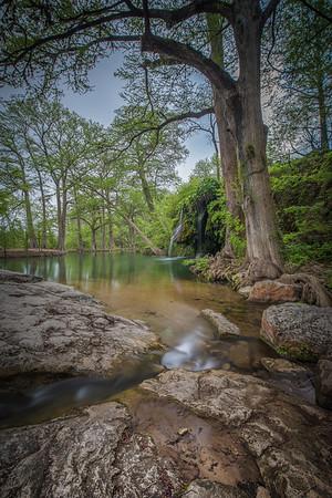 Krause Springs Waterfall Landscape