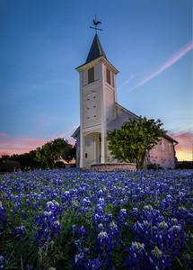 Little Church in Bluebonnets