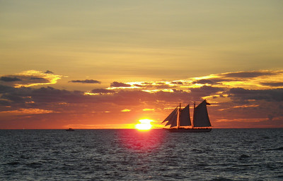 Sailing in the sunset, Key West, FL