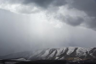 Snow storm in eastern Washington.
