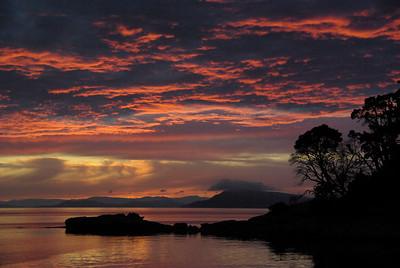 Sunset in San Juan Islands, WA