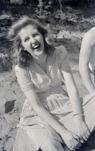 Jean laughing