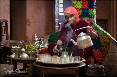 Tea ceremony in a Berber home
