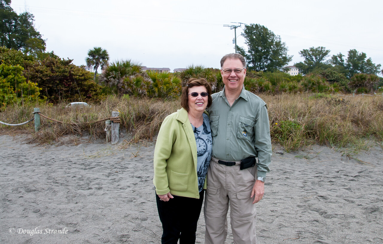 Louise & Doug at a Sarasota beach
