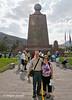 Quito, Ecuador<br /> Doug (South) & Louise (North) pose at the equator