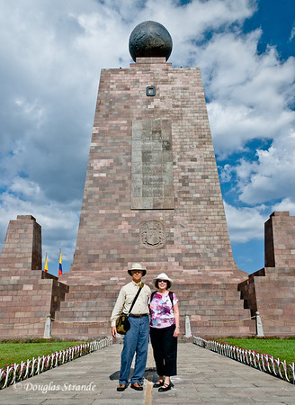 Quito, Ecuador Doug & Louise at the equator monument