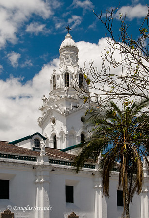 Quito, Ecuador The bell tower of the Catedral Metropolitana of Quito
