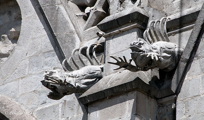 Quito, Ecuador Iguana Gargoyles on the Basilica del Voto Nacional