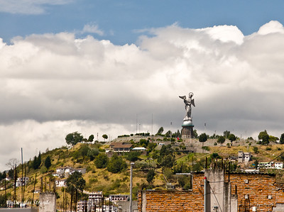 "Quito, Ecuador   Statue ""Virgen de Quito"" atop the hill ""El Panecillo"" in Quito"