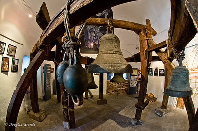 Quito, Ecuador Church & Monastery of San Francisco Bells remaining from destroyed bell tower