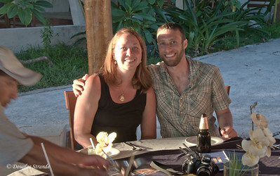 Jessica and Michael at dinner