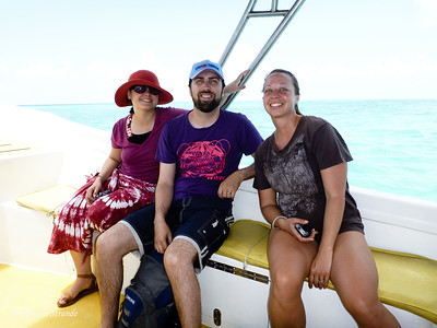 Ruth, Paul and Jessica on the way to snorkel
