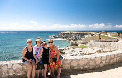 Jessica, Grandma Louise, Sophia, and Grandma Lynn at Punta Sur