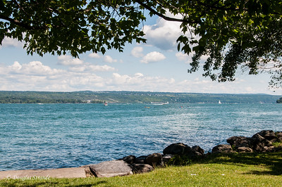 Lake Cayuga, looking East from Taughannock State Park