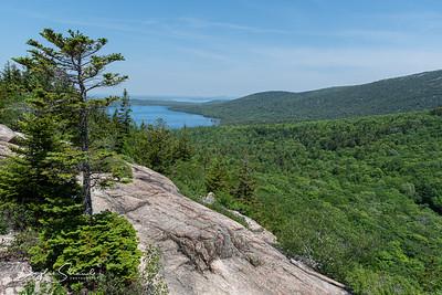Jordan Pond viewed from Bubble Rock