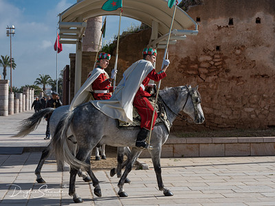 Mounted Guards, Hassan Tower at Unfinished Mosque