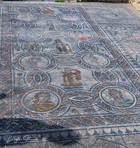Bathing Nymphs mosaic at Volubilis