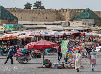 Bab Mansour Gate and bustling plaza