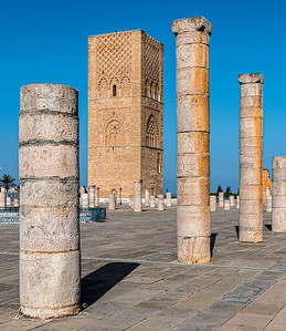 Hassan Tower at Unfinished Mosque