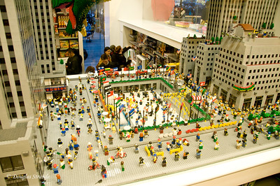 Rockefeller Center built with Legos