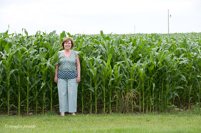 2011   Louise and corn....more than knee-high