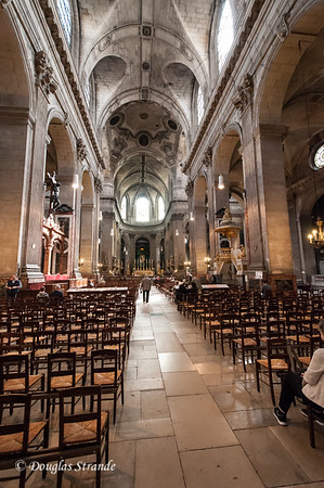 St Sulpice Church set up for Sunday mass