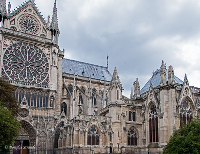 The Rose Window and Flying Buttresses of Notre Dame