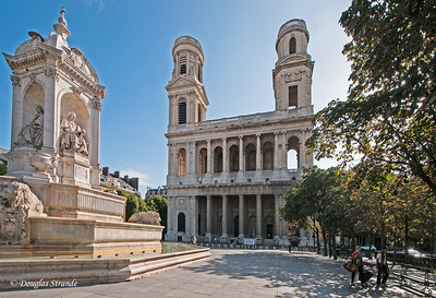 Courtyard of St Sulpice Church