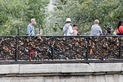 Padlocks promising eternal love attached to this bridge