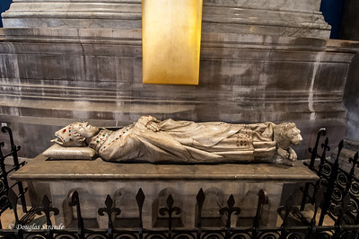 A tomb inside Notre Dame Cathedral