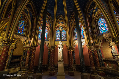 Interior of Sainte Chapelle, consecrated in 1248