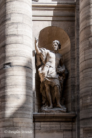 Sculpture on the exterior of St Sulpice