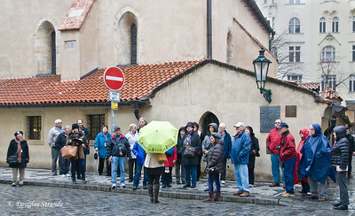 """Our """"Blue Group"""" at the Old-New (Staronova) Synagogue, Prague"""