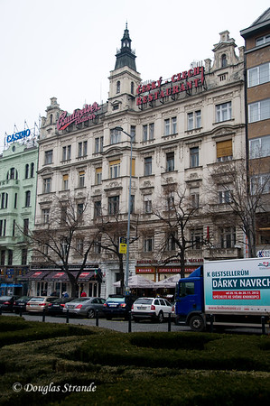 Buildings on Wenceslas Square, Prague