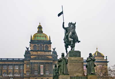King Wenceslas in front of the National Museum