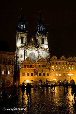 Church of Our Lady before Tyn at night