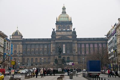 National Museum, with King Wenceslas statue in front