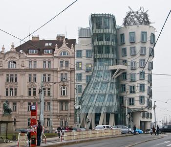 """""""Dancing"""" buildings, nicknamed Fred Astair & Ginger Rogers"""