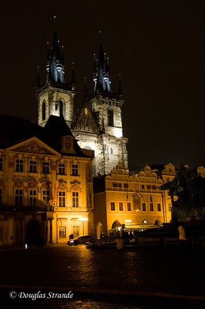 Church of Our Lady before Tyn, night