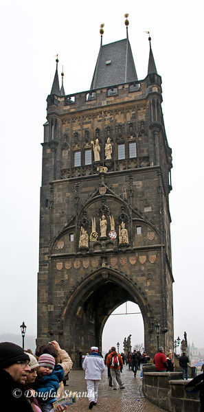 Tower at entrance to Charles Bridge