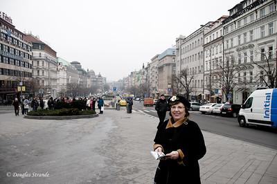 Louise at Wenceslas Square