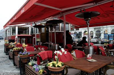 Sidewalk cafe, Wenceslas square, Prague