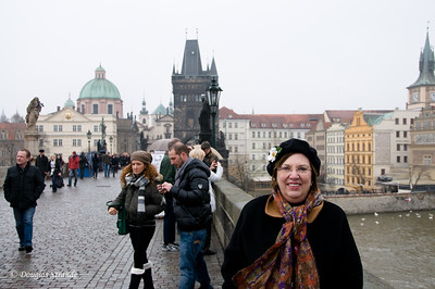Louise on the Charles Bridge, Prague