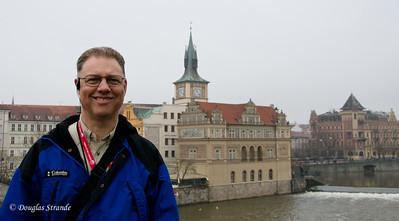 Doug on the Charles Bridge, Prague