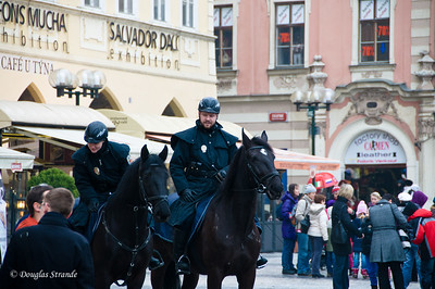 Mouted Police in Old Town, Prague