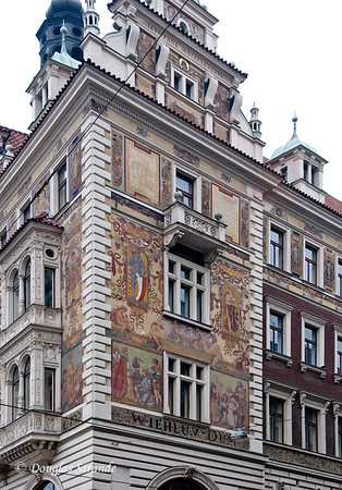 Murals on Prague building