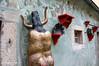 Building art displays in Cesky Krumlov